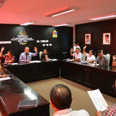 Aprueba Cabildo de Carrillo Puerto, adelanto de la Sefiplan de 25 mdp por anticipo de participaciones para cumplir los compromisos financieros del municipio