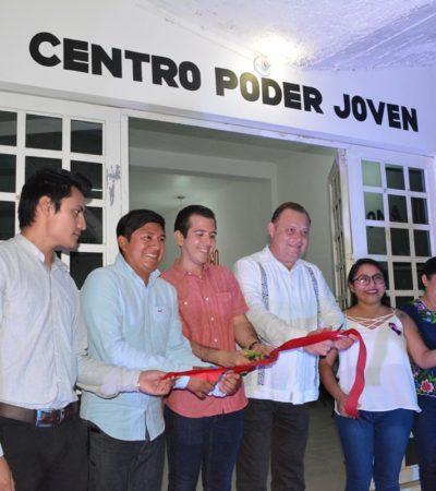 Inauguran el Centro Interactivo Poder Joven en Felipe Carrillo Puerto