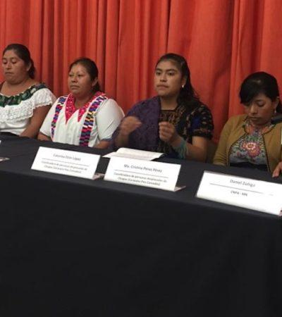 Acuden desplazados de Chiapas a la CDMX para exigir a AMLO juicio político contra Manuel Velasco Coello