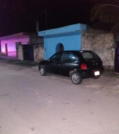 Durante la madrugada, disparan contra vehículo en Bacalar