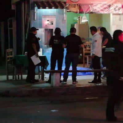 EJECUTAN A TAQUERO EN PLAYA DEL CARMEN: Asesinato a balazos en la colonia La Guadalupana