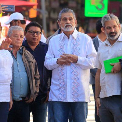 Realiza Laura Beristaín recorrido por la Quinta Avenida con el empresario Miguel Quintana Pali