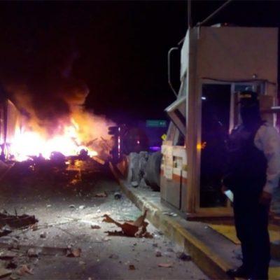 Estalla pipa en autopista Córdoba-Veracruz; hay dos muertos y siete lesionados