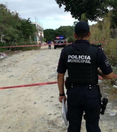 FEMENICIDIO EN PLAYA DEL CARMEN: Hallan el cuerpo desnudo de una mujer, presuntamente violada, en la Avenida Constituyentes con 120