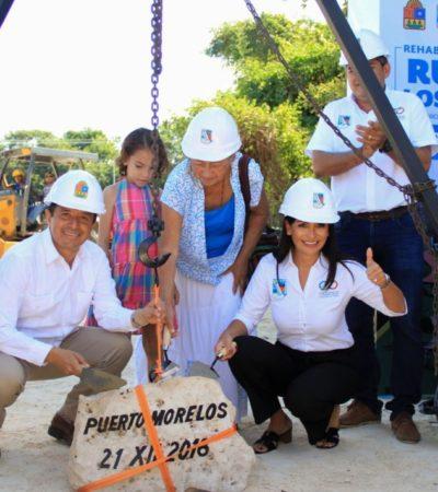 Laura Fernández y Carlos Joaquín inauguran el parque ecológico 'Punta de Corcho' y colocan primera piedra del acceso de la Ruta de los Cenotes