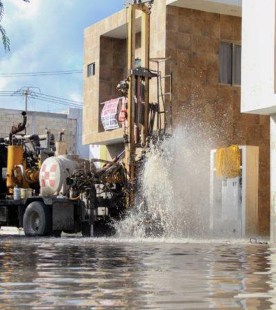 Ayuntamiento de Puerto Morelos pone en marcha el programa de limpieza de pozos pluviales, para evitar contaminación