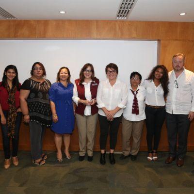 Tras reunión con Yeidckol Polevnsky, refrenda Laura Beristaín apoyo a políticas de Andrés Manuel