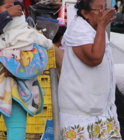 Provoca frente frío 18 temperaturas de cuatro grados en sur de Yucatán