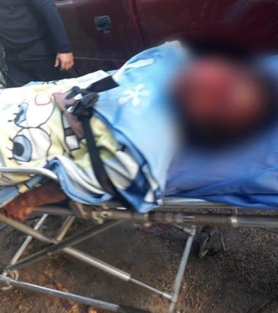 Hombre le propina salvaje golpiza a mujer en Chetumal