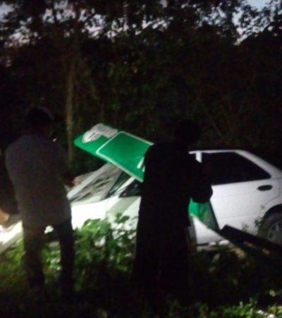 CHOQUE EN CHEMAX: Varios heridos en accidente en la carretera libre Cancún-Valladolid