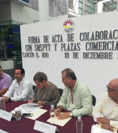 Plazas comerciales y autoridades firman convenio de colaboración para incrementar la seguridad y disminuir el índice delictivo