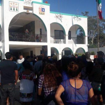 Ciudadanos de Xnoh Cruz se manifiestan por elecciones