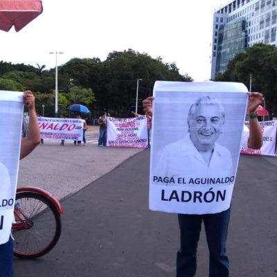 'PAGA EL AGUINALDO, LADRÓN': Núñez en espera de 'una mano' de AMLO ante protestas y bloqueos