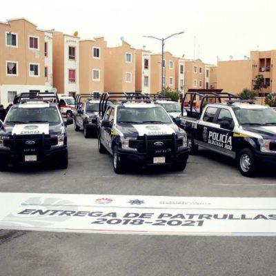 PAGARÁN 4 MDP CADA MES… POR 30 MESES: Entregan primeras patrullas rentadas para zonas con mayor índice delictivo en Cancún