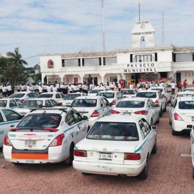 Taxistas de Playa convocan a nueva marcha