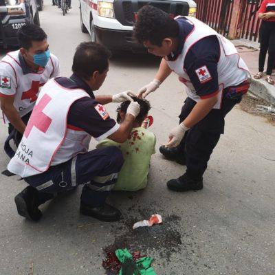 Recibe pedrada durante riña entre pandilleros en Chetumal