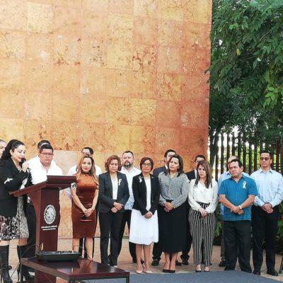 Magistrados y personal del poder judicial en Quintana Roo se manifiestan contra la propuesta de reducción salarial