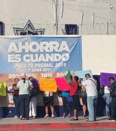 Protestan familiares de los policías acusados por Pérez Abarca