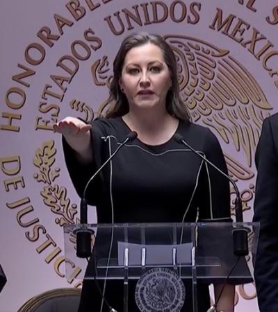 Toma protesta Martha Erika Alonso ante el poder Judicial como gobernadora de Puebla