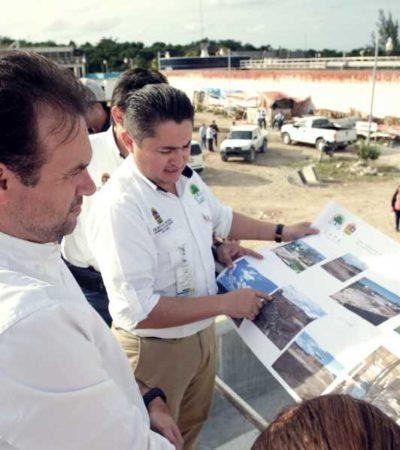 Supervisa Pedro Joaquín obras en planta de tratamiento 'San Miguelito' en Cozumel