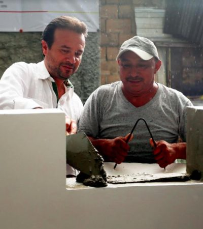 Pone en marcha Pedro Joaquín programas de mejoramiento de vivienda en Cozumel
