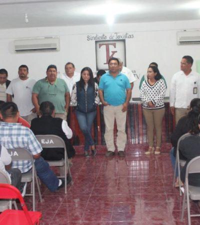 Estrenan líder taxista en Lázaro Cárdenas