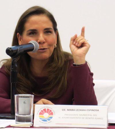 LLEGAN LAS NUEVAS PATRULLAS A CANCÚN, PERO AÚN NO CIRCULAN: Asegura Mara Lezama que AMLO sí tiene proyectos para la ciudad, pero en una segunda etapa
