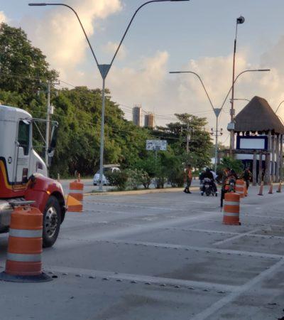 CERCO DEL EJÉRCITO EN CANCÚN: Brigada de la Policía Militar toma el control de retén carretero en la entrada a la ciudad
