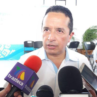 """""""ESPERO QUE HAYA UN TRABAJO DE MUCHA COORDINACIÓN"""": Asegura Gobernador que muchos de los proyectos de AMLO para Quintana Roo ya vienen en marcha"""
