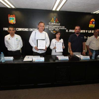 Ayuntamiento de Felipe Carrillo Puerto y la Secretaría del Trabajo de QR firman convenio de colaboración