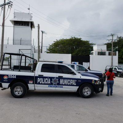 Movilización policiaca en la cárcel de Cancún por supuesto disturbio