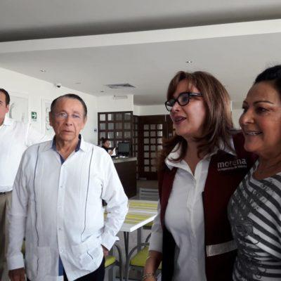 """""""Que todos se queden claros que él (Hernán Pastrana) es el presidente municipal"""": Yeidckol; primer regidor será el reemplazo"""
