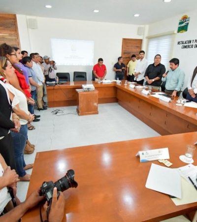 Instalan Comité Dictaminador de Comercio en la Vía Pública de Tulum