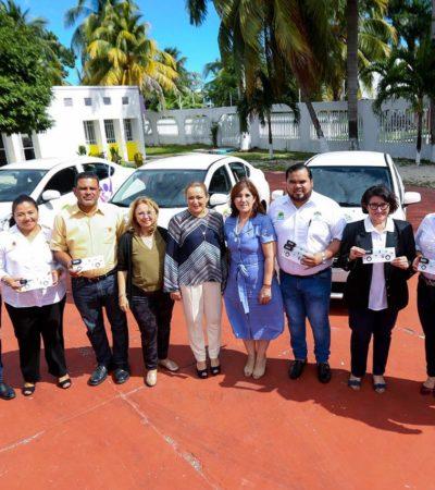 Entregan al DIF Quintana Roo nuevos vehículos adquiridos con recursos propios