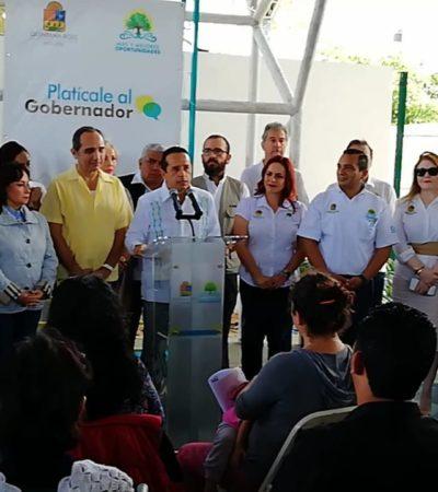 AUDIENCIA DEL GOBERNADOR EN PLAYA: Con la inasistencia de la Alcaldesa Laura Beristaín, Carlos Joaquín inició jornada de atención de peticiones de solidaridenses