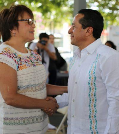 Acude Laura Beristain a la audiencia del Gobernador en Playa del Carmen