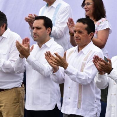 ASISTE CARLOS JOAQUÍN AL INICIO DEL TREN MAYA: Para Quintana Roo representa más y mejores oportunidades para la diversificación económica y turística, dice