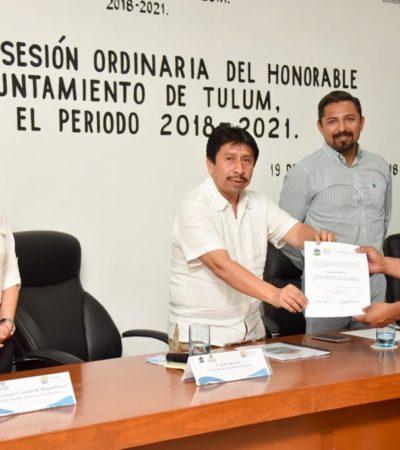 Delegados y subdelegados de comunidades de Tulum reciben constancia de mayoría