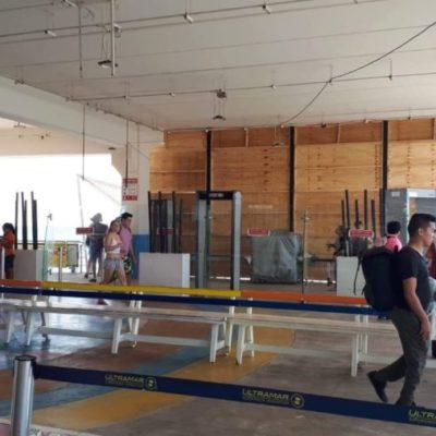 Con nuevos arcos detectores y una banda de rayos X, refuerzan la seguridad y vigilancia en la Terminal Marítima de Playa del Carmen