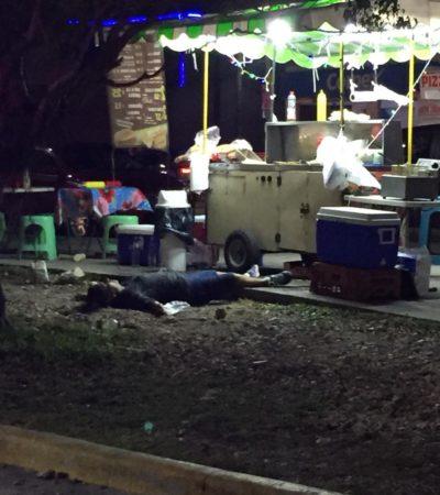 EJECUTAN A UNA MUJER EN LA SM 77: Matan a balazos a empleada de un puesto ambulante en Cancún