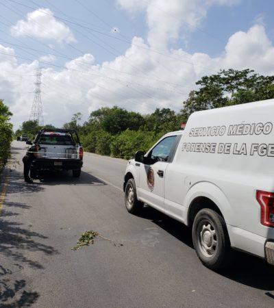 Hallan a hombre ejecutado a un costado de la avenida Huayacán