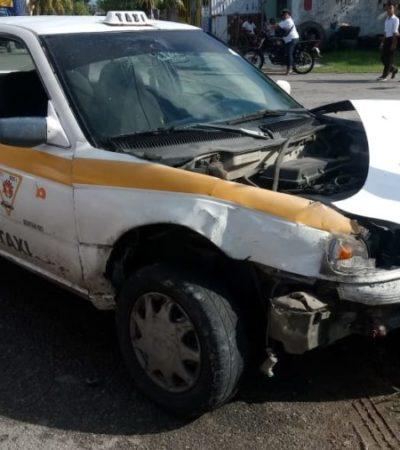 Taxista que conducía en estado de ebriedad provoca accidente vial en Chetumal