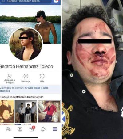 Denuncian en redes brutal agresión a golpes contra estudiante en Cancún