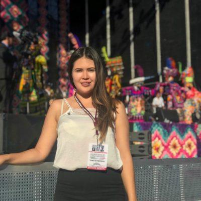 """""""Vienen cosas buenas para QR"""", dice Anahí González, regidora de BJ en el AMLO fest"""