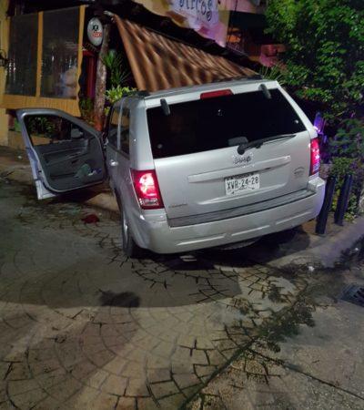 RAFAGUEAN A PRESUNTO EX JUDICIAL EN LA YAXCHILÁN: Al filo de la madrugada, intentan ejecutar a ex policía a bordo de un Jeep en Cancún