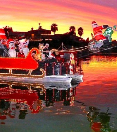 Incrementa interés del turismo internacional para celebrar el colorido desfile 'Sunset Boat Parade' en Cancún
