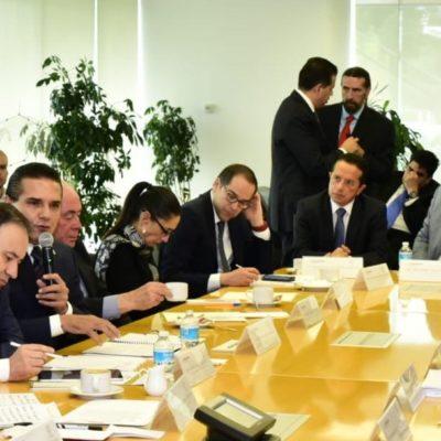 Participa Carlos Joaquín en primera reunión de seguridad con el Secretario de Seguridad y Protección Ciudadana, Alfonso Durazo Montaño