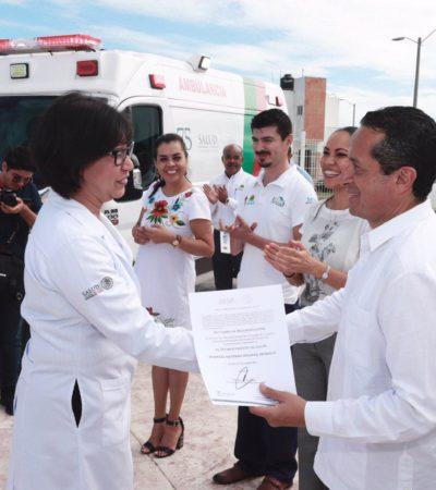 Anuncia Carlos Joaquín 141 millones de pesos para equipamiento de nueve hospitales