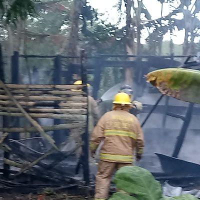 Consume fuego humilde vivienda en Chetumal