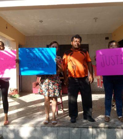 OTRO RECLAMO A LA FISCALÍA EN CHETUMAL: Exigen esclarecer asesinato de Rebeca en 2016